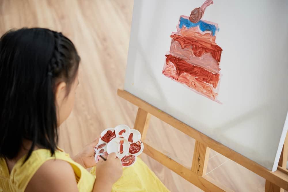 Uitzonderlijk Zelf schilderij maken met tape op canvas met kinderen - Mamaliefde #GR11