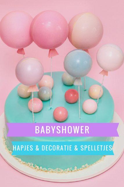 Tips voor organiseren van een babyshower; in het roze of blauw voor jongen en meisje. Met Decoratie, spelletjes en makkelijke (hartige en zoete) hapjes en quizvragen - Mamaliefde.nl