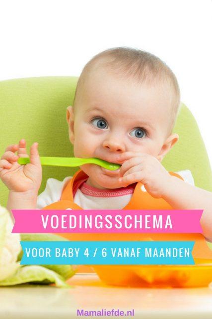 voedingsschema baby 6 maanden voedingscentrum