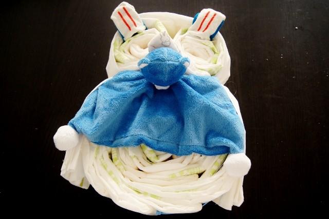 DIY: Diaper cake luiertaart in uilvorm - Mamaliefde