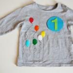 DIY: Shirt flocken eerste verjaardag - Mamaliefde