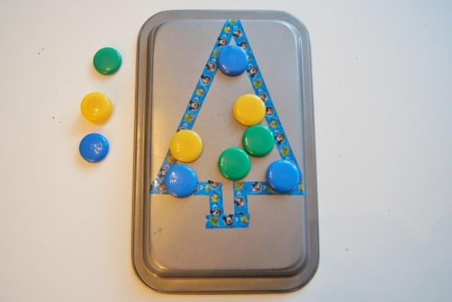 Spelend leren met magneten en washi tape - Mamaliefde