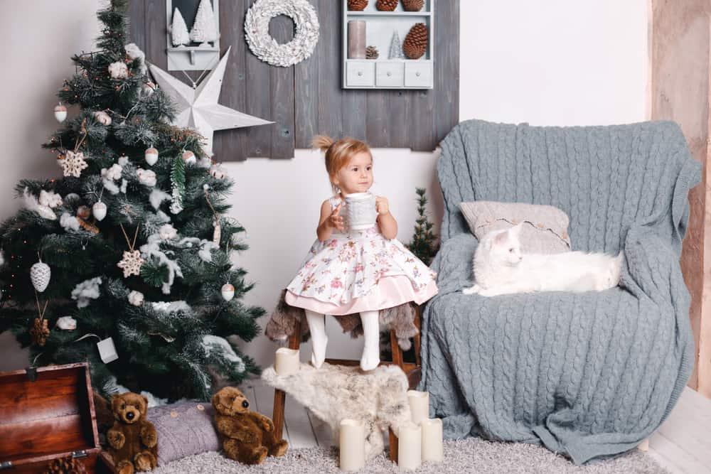 Kerstboom met kinderen en katten; tips voor kindvriendelijke decoratie en kat afleren - Mamaliefde.nl