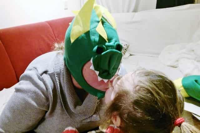 Carnaval kostuum baby - drakenonesie - Mamaliefde