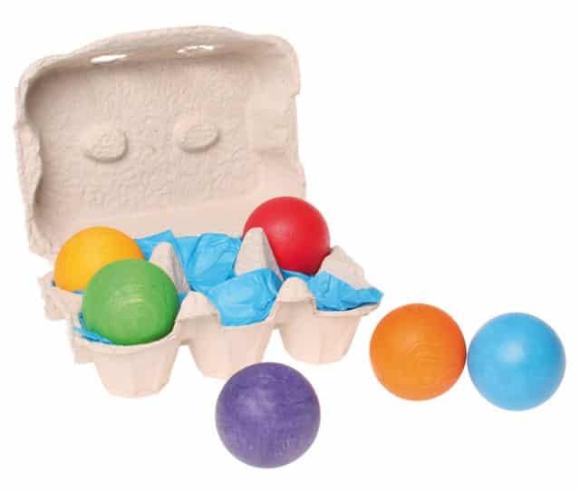 Grimm's 6 gekleurde ballen in doosje - Mamaliefde