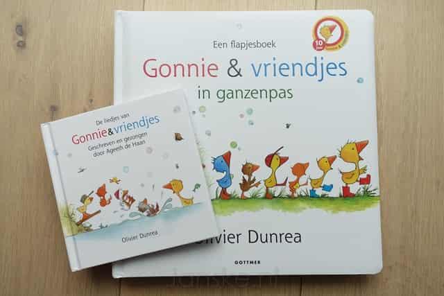 Gonnie & Vriendjes in ganzenpas; boekje met liedjes cd - Mamaliefde.nl