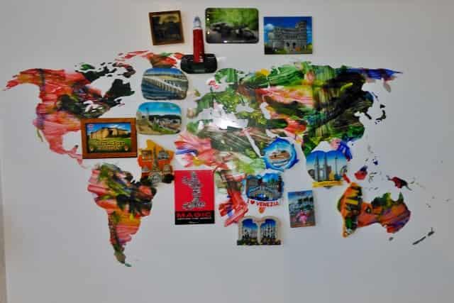 DIY: landkaart magneetbord -Mamaliefde.nl