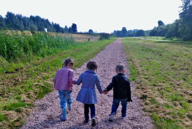KLimmen en klauteren in natuurspeeltuin speelpolder Hoge Nesse in Zwijndrecht - Mamaliefde.nl