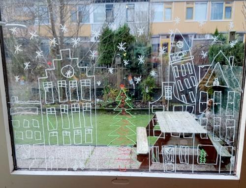 Inspiratie krijtstift raamtekeningen Sinterklaas & Kerstmis