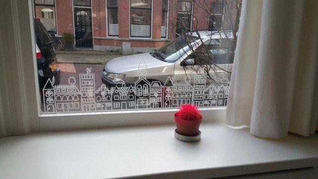 Krijtstift Raamtekeningen Amp Stickers Voor Oa Sinterklaas