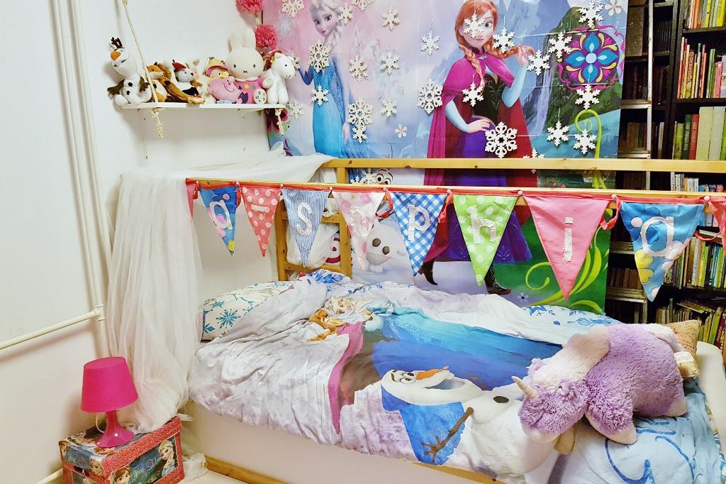 mama ik wil een prinsessenkamer met roze en goud