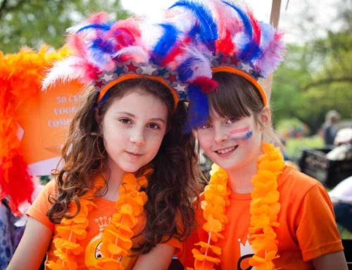 Koningsdagkleding; oranje shirts & accessoires voor kinderen 2018