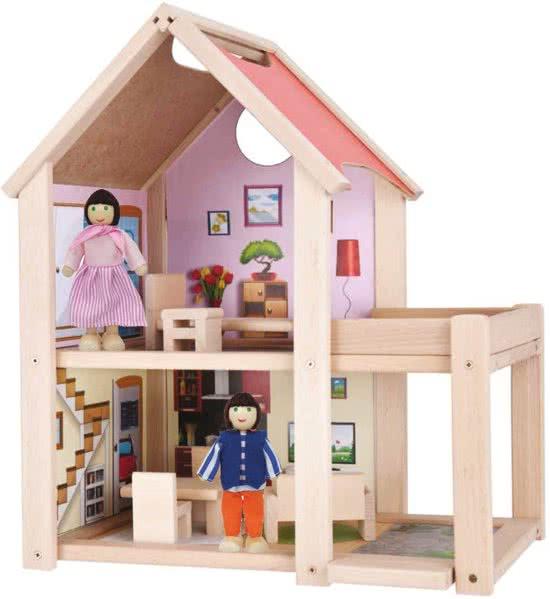 Poppenhuis top 9 wit houten of barbie huizen ook voor 3 for Poppenhuis voor peuters