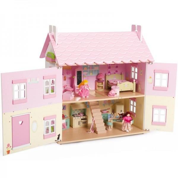 Poppenhuis top 9 wit houten of barbie huizen ook voor 3 for Poppenhuis voor barbie