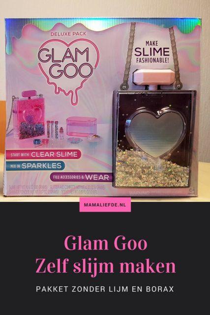 Glam Goo slijm review; slijm maken pakket zonder lijm en borax - Mamaliefde.nl