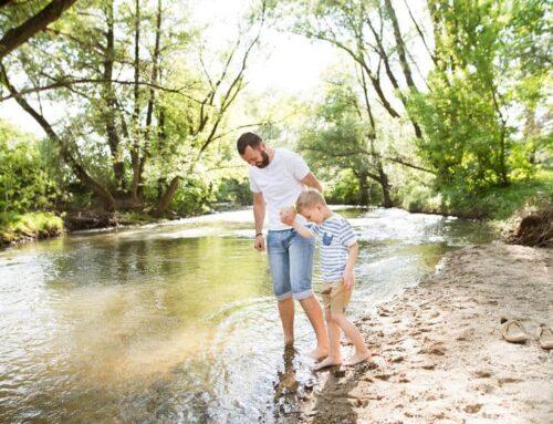 Blote voeten pad Nederland met kinderen; overzicht per provincie