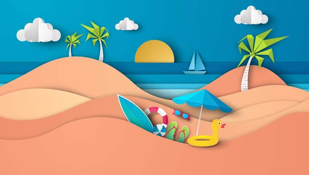 Goede Knutselen zomer & vakantie thema voor peuters, kleuters en QO-14