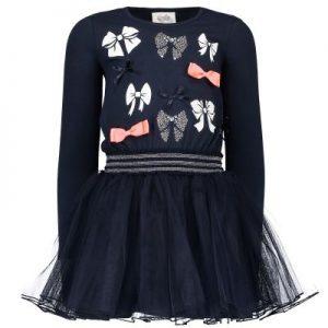 9c2441f43e96b5 Le Chic jurk voor meisjes in de kleur blauw. Deze tricotjurk