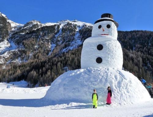 Sneeuwpop maken van sneeuw en alternatieven