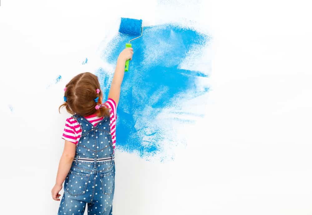 Kinderkamer / babykamer verven en schilderen met muurverf met ideeën -Mamaliefde.nl