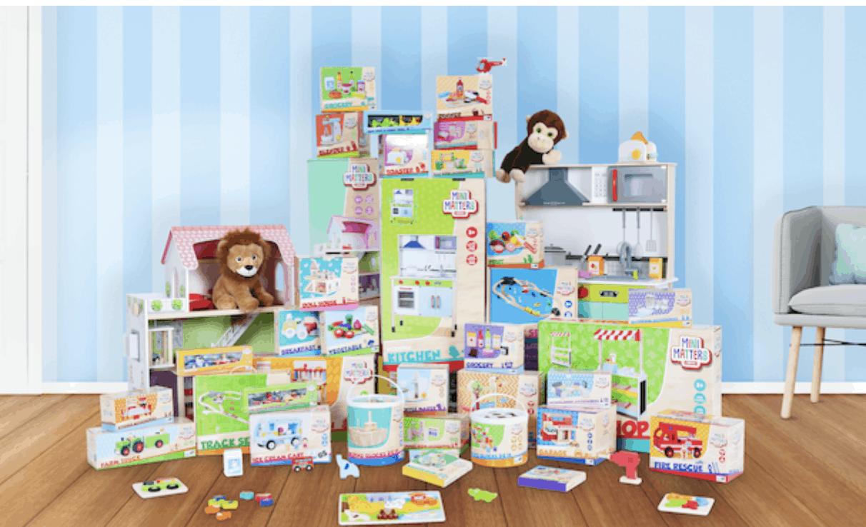 Mini Matters toys; Houten speelgoed action met oa poppenhuis, garage en keuken - Mamaliefde.nl