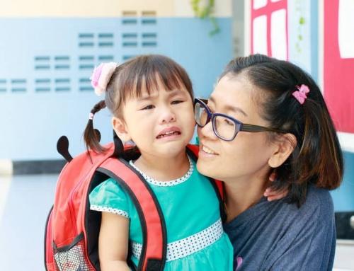 Tips als je kind huilt wanneer je weggaat