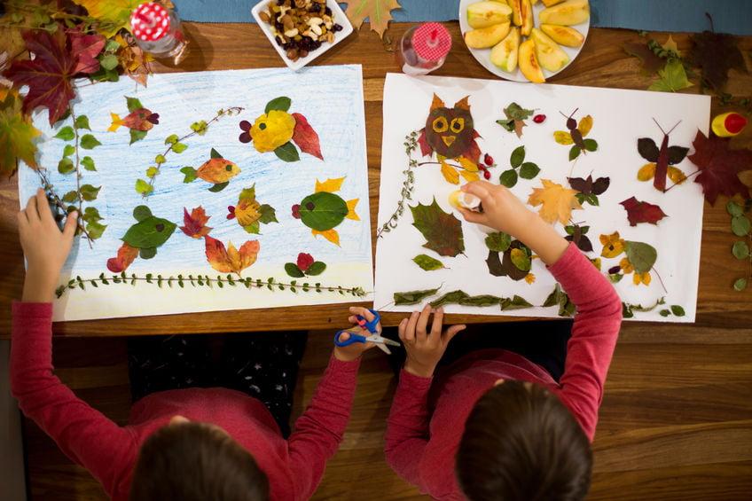 Herfst; knutselen met bladeren van dieren tot en met drogen van gekleurde herfstbladeren - Mamaliefde.nl