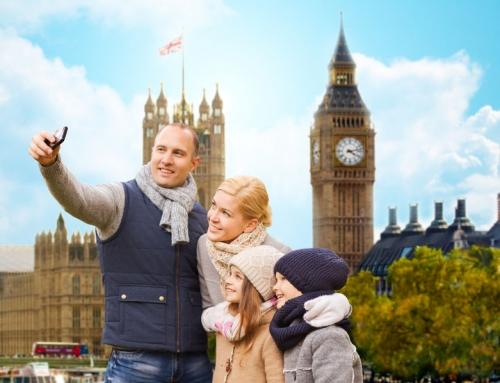 London met het gezin
