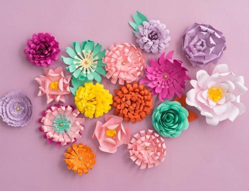 Bloemen knutselen en vouwen van papier
