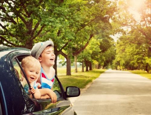 Autospeurtocht met het gezin of kinderen