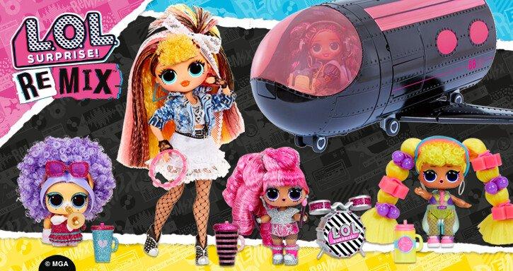 LOL Surprise REMIX; Van meest favoriete speelgoed naar een hit in de muziekwereld. Met omg dolls, de unieke collector, hair flip dolls, pets en natuurlijk het vliegtuig en de super surprise. - Mamaliefde.nl