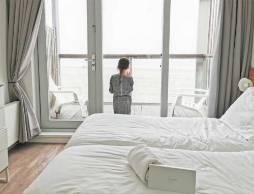 Beach Villa's Hoek van Holland; slapen op het strand ook in de winter